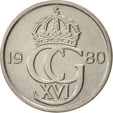 [#97033] Suède, Carl XVI Gustaf, 50 Öre, 1980, TTB, Copper-nickel, KM:855