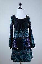 ARYEH Black dress with ladies in Hats, Small