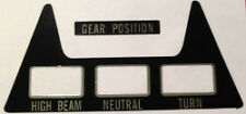 SUZUKI GT750 GT750J GT750K GT750L GT750A GT750B CONSOLE CAUTION WARNING DECAL