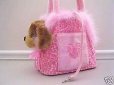 Dog/Pet Carriers Totes Purse Pink Fur Bag suitable for small pet-own design~