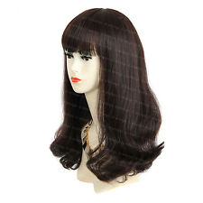 Face Frame Long Wavy Brown Auburn mix Ladies Wigs skin top Hair from WIWIGS UK