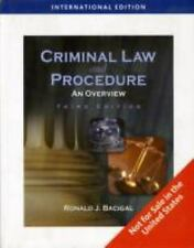Criminal Law and Procedure: An Overview, Bacigal, Ronald J., Acceptable Book