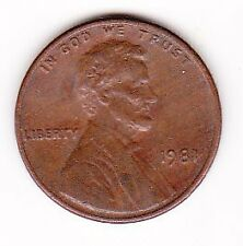 United States of America One Cent Coin 1981