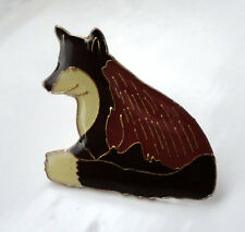 ZP130 Fox Enamel Lapel Pin Badge Brooch Bushy Tail Cunning as...