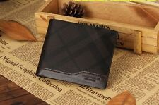 Men Wallet Harrm's Leather Brown Short Designer Bi fold