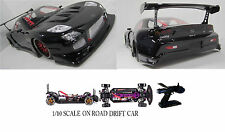 1/10 Scale MAZDA RX7 RTR Custom RC Drift Cars 4WD 2.4Ghz & Charger GLOSS BLK