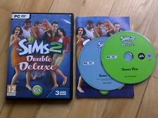 Les Sims 2 Double Deluxe PC DVD ROM jeu de base +2 packs d'expansion inclus