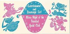 Entertainment & Beverage List Trinidad Yacht Club Bayshore Point - Port of Spain