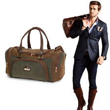 Mens Holdall Duffle Bag Gym Smart Travel Plane Luggage Shoulder Brown Compass