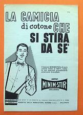 B867-Advertising Pubblicità-1959 - MINIM-STIR LA CAMICIA CHE SI STIRA DA SE'