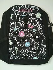 Pottery Barn PB Teen Black White Floral Gear Up Large Backpack name pink ASHLEY