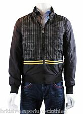 Bnwt GALLIANO par John Galliano Noir Plaid Carreaux Veste Manteau uk34