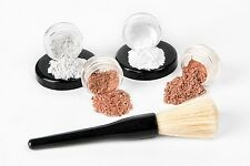 Organic Mineral Makeup 5 pc Set Coverage Sample Size Kit  Powder Dk Tan/Cocoa