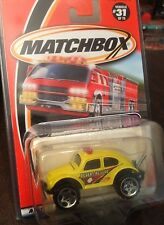 HTF MATCHBOX VW BEETLE DUNEBUGGY 4X4 RESCUE DIECAST 1:64 YELLOW
