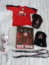 Lot 8 pieces OGC NICE ogcn ultras foot nissa mug signé bonnet casquette ...