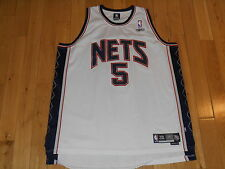 VINTAGE REEBOK JASON KIDD WHITE NEW JERSEY NETS #5 NBA TEAM SWINGMAN JERSEY 2XL