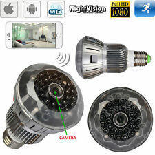 Night Vision Light Bulb SPY Hidden Wireless Camera 1080P WIFI HD H.264 DVR Cam