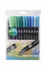 Tombow Brush Pen 12 Colour OCEAN SET. Double Ended Artist & Craft Marker Pens