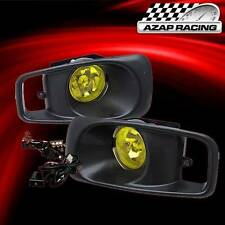 99-00 Yellow Lens Driving Fog Lights With Switch And Harness For Honda Civic New