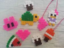 Lotto stock 5 ciondoli charms hama beads pyssla paperina ghiaccioli