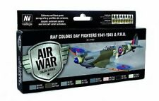 VAL71162 AV Vallejo Model Air Set - WWII RAF Day Fighters 8 colour paint set