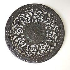 Seltener Schinkel Teller in Bronze durchbruch Kunstguss Wandteller   ca.21,5 cm