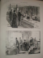 Un Chinese Laundry a Philadelphia 1876 stampa ref v
