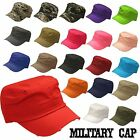 NEW UNISEX MILITARY STYLE ARMY SOLID CADET CAP SNAPBACK ADJUSTABLE HAT