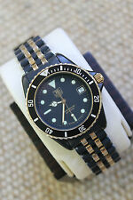 Tag Heuer 980.029 RARE 1000 Professional Classic SS Black Coral Gold Watch Mens