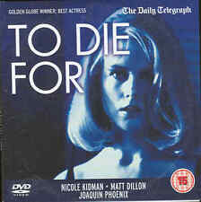 TO DIE FOR Nicole Kidman + THE EAGLE HAS LANDED Michael Caine - 2 films on 1 DVD