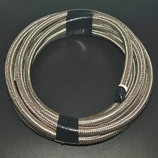 Stainless Steel Braided AN6 -AN6 Oil Fuel Line Hose 5 Meter 16.4FT AN-6 Silver