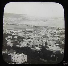 Glass Magic Lantern Slide ALGIERS - GENERAL VIEW . C1890 ALGERIA
