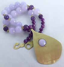 Necklace Vintage Modernist Style Jewelry Beaded Amethyst New Handcrafted Runway