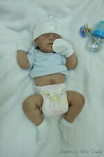 Baby Alex #5 - Full body silicone baby doll sculpted & reborn by Helene Rosalini