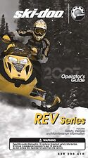 Ski-Doo owners manual book REV Series 2007 MX Z X 440, MX Z, GSX, GTX & SUMMIT