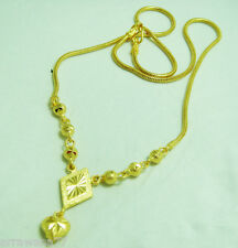 Heart 22K 23K 24K THAI BAHT YELLOW GP GOLD NECKLACE Jewelry N_106