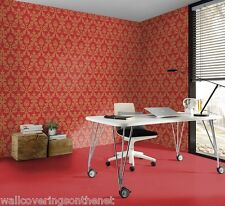 Velvet Feel, Red & Metallic Gold, Paste the Wall, Featurewall, Wallpaper