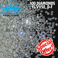 100% Natural Loose Round Single Cut 100 Diamonds FL-VVS D-H(White) Real Polished