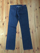 SEVEN LADIES DARK BLUE DENIM STRAIGHT LEG JEANS W28 L32