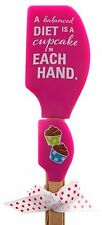 Balanced Diet Cupcake In Each Hand Kitchen Buddies Pink Spatula Set Brownlow