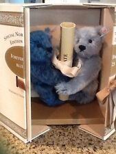 NRFB Steiff 2 Teddy Bear FOREVER FRIENDS BLUE 23 Ltd.North American Edition 1996
