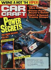 Car Craft Magazine January 1994 Pro Engine Builders Tell All / Power Parts
