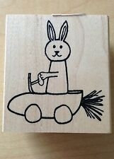 Savvy Rubber Stamps stamp - Carrot Car Bunny Rabbit