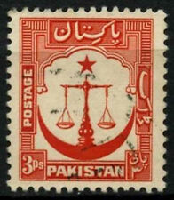 Pakistan 1948-57 SG#24a 3p Red P13.5 Used #D30805