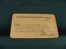 1918 Louisiana and North West Railroad Annual Pass No 379