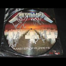 METALLICA - Master of Puppets PICTURE VINYL AUTOGRAPHED ULTRARARE