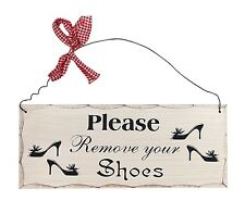 "Attraction Design Home ""Please Remove Your Shoes"" Wood Sign-Decorative Plaque"