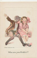 C3693 1912 POSTCARD A/S ARTIST SIGNED BAUMANN CHILDREN LOVE ROMANCE
