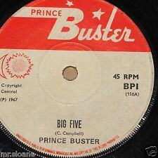 PRINCE BUSTER ~ BIG FIVE b/w MUSICAL COLLEGE ~ UK PRINCE BUSTER LABEL SKA 7""