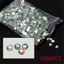 1,000 pcs Round Faceted Flat Back Rhinestone Gems 4mm clear